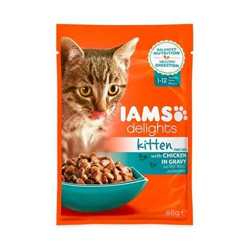 IAMS Kitten Delights mit Huhn in Sauce