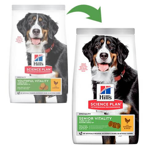 Hill's Science Plan Hund Mature Adult 6+ Senior Vitality Large Breed Huhn