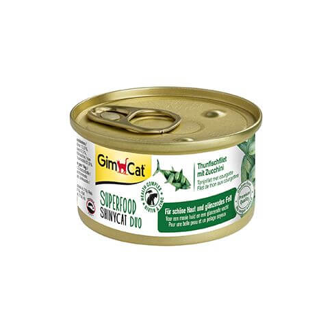 GimCat Superfood ShinyCat Duo mit Thunfisch & Zucchini