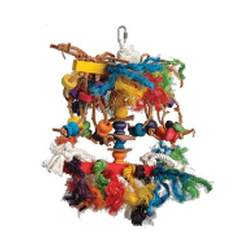 SwissPet Vogelspielzeug aus Sisal & Holz