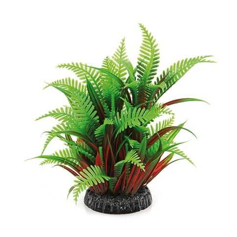Kunststoffpflanze Fantasy Plant QL grün-rot