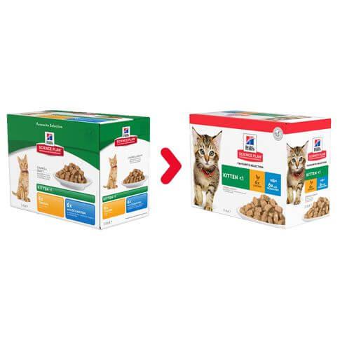 Hill's Feline Kitten Mixed Multipack Huhn&Meerfisch - Beutel