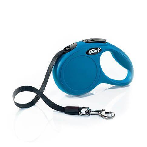 Roll-Leine Classic mit Gurt blau