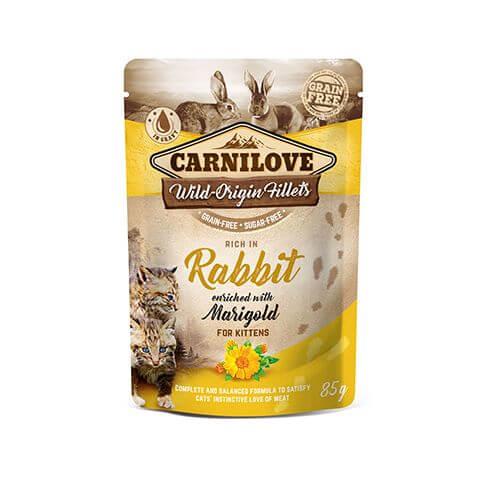 Cat Kitten Kaninchen mit Ringelblume Beutel
