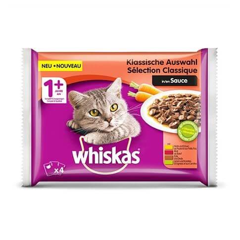 Whiskas 1+ Klassische Auswahl in Sauce