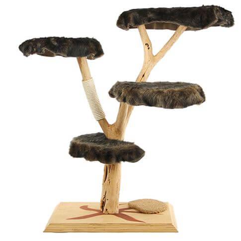Echtholz Kratzbaum mit 4 Liegeflächen