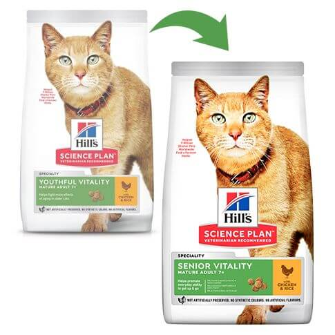 Hill's Science Plan Katze Adult 7+ Senior Vitality Huhn