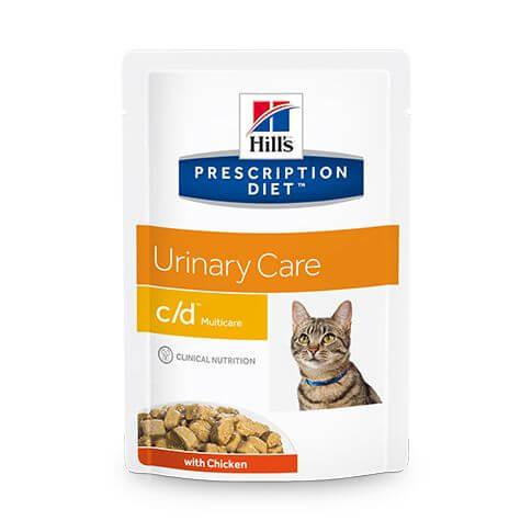 Feline c/d Multicare Harnstein-Verbeugung Huhn - Beutel