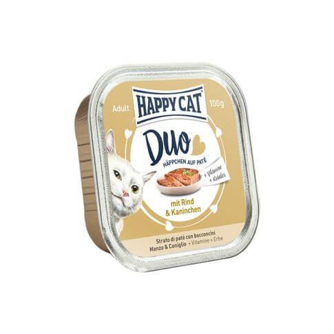 Happy Cat Duo mit Rind & Kaninchen