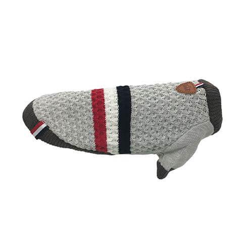 Hundepullover T-Style grau