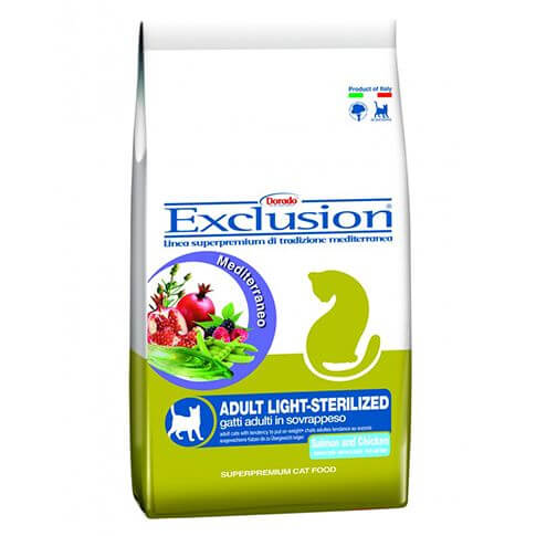Exclusion Mediterraneo Cat Light sterilized mit Lachs