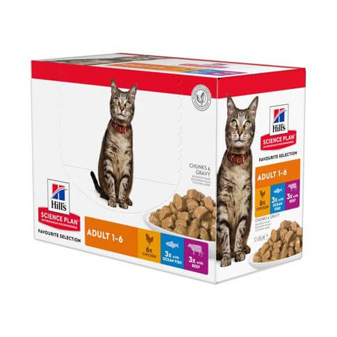 Hill's Science Plan Katze Adult Multipack - Beutel
