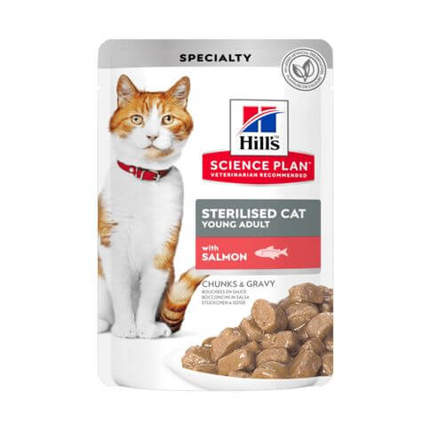 Hill's Science Plan Katze Young Adult Sterilised Cat Lachs