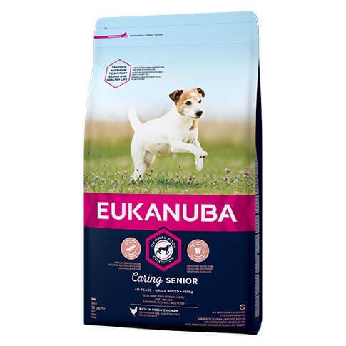 Eukanuba Caring Senior Small mit  Huhn
