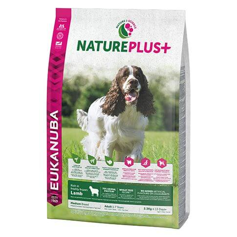 Eukanuba Nature Plus Adult Medium Lamm