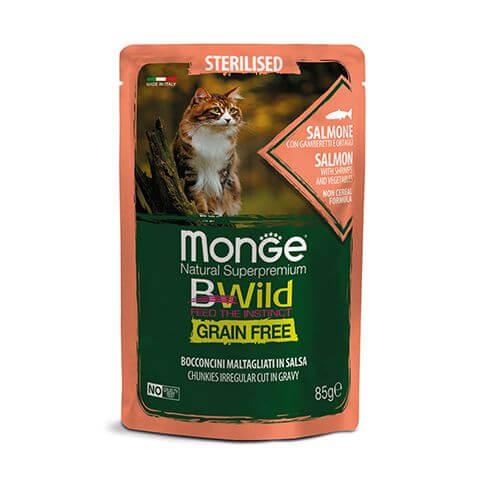 Monge Cat Bwild GF Sterilised Salmon