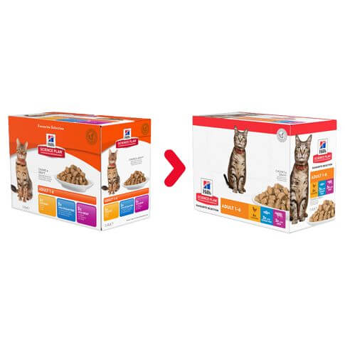 Hill's Feline Adult Mixed Multipack Huhn,Meerfisch&Rind - Beutel
