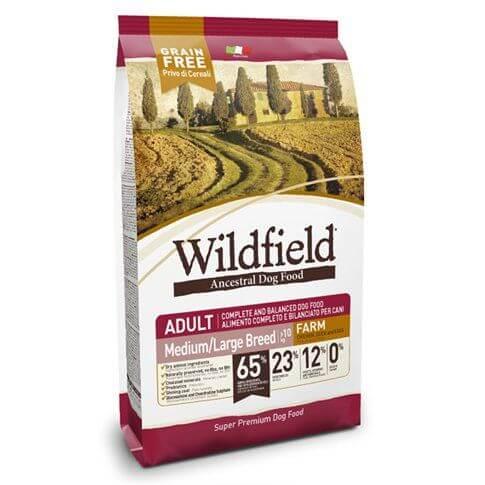 Wildfield Adult Farm Medium Large mit Huhn, Ente & Banane