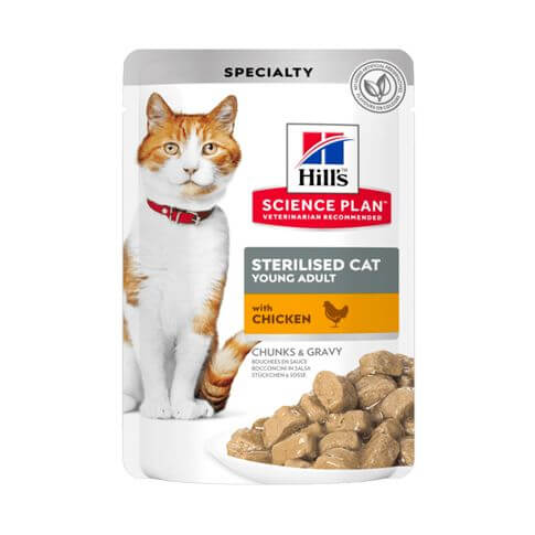 Hill's Science Plan Katze Young Adult Sterilised Cat Huhn Beutel