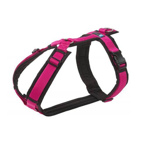 Brustgeschirr FUN schwarz/pink