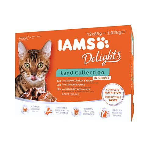 Iams Delights Adult Land Mix in Sauce