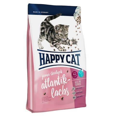 Happy Cat Junior Sterilised Atlantik-Lachs