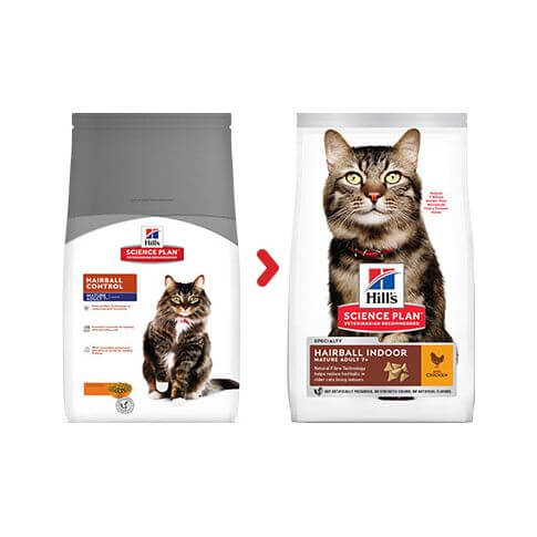 Hill's Science Plan Katze Mature Adult 7+ Hairball Indoor