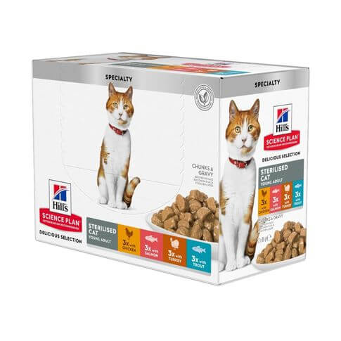 Hill's Science Plan Katze Young Adult Sterilised im Multipack