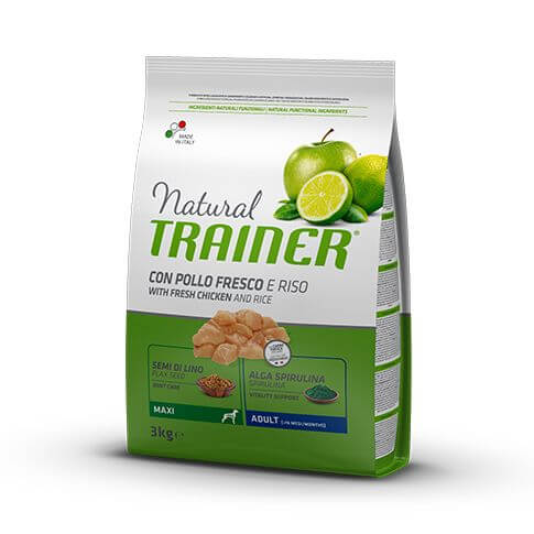 Trainer Natural Dog Adult Maxi with Fresh Chicken and Rice