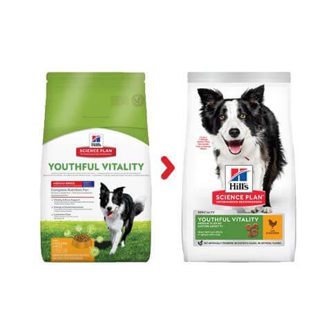Hill's Canine Adult 7+ Youthful Vitality Medium Breed Huhn & Reis