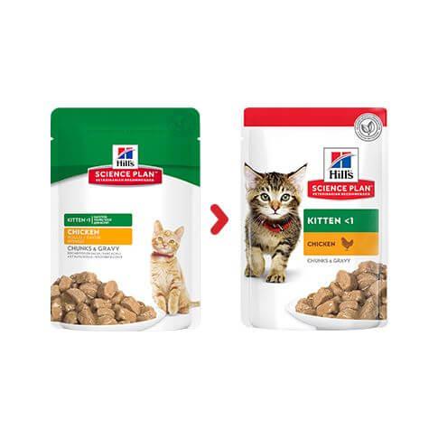 Hill's Feline Kitten Huhn - Beutel