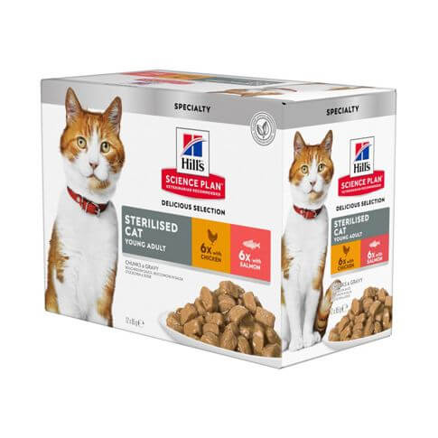 Hill's Science Plan Katze Young Adult Sterilised - Multipack