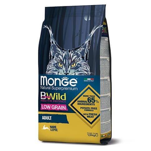 Monge Cat BWild Low Grain Adult Hare