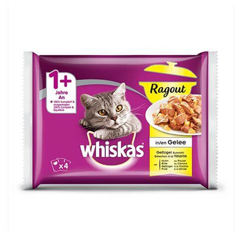 Whiskas Ragout 1+ Geflügel Auswahl