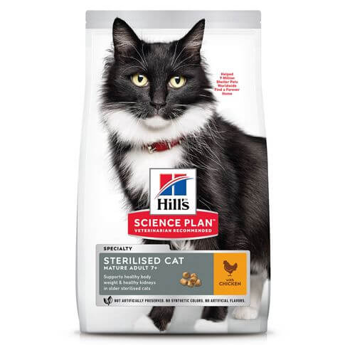 Hill's Science Plan Katze Mature Adult 7+ Sterilised Cat