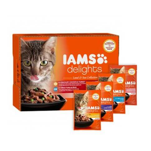 IAMS Adult Delights Adult Land & See Mix in Sauce
