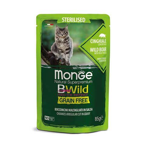 Monge Cat Bwild GF Sterilised Boar