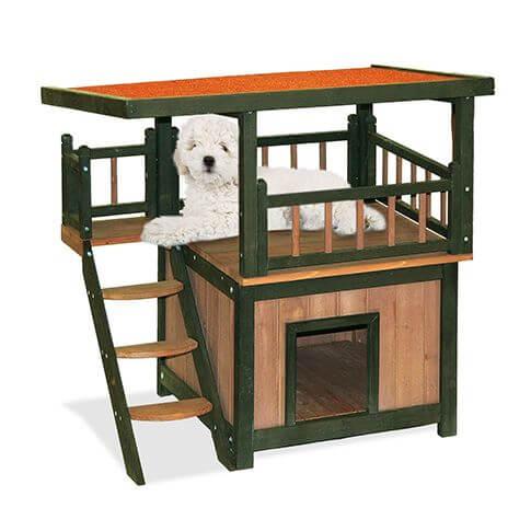 Hunde- und Katzenhochsitz Vista Plus braun