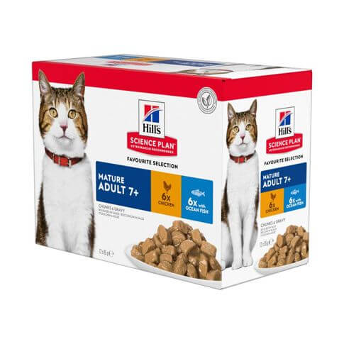 Hill's Science Plan Katze Mature Adult 7+ Multipack