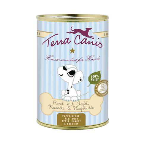 Terra Canis Welpe mit Rind, Apfel, Karotte & Hagebutte