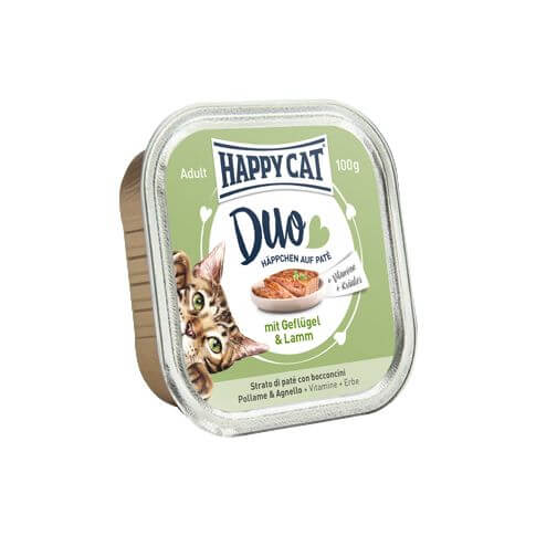 Happy Cat Duo mit Geflügel & Lamm
