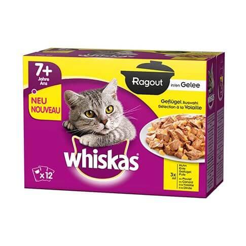 Whiskas Ragout 7+ Geflügel Auswahl