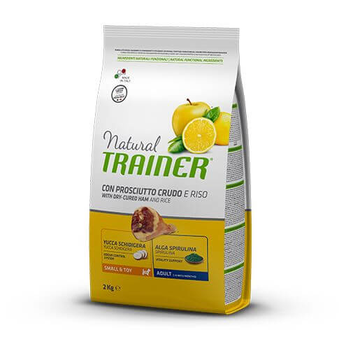 Trainer Natural Dog Adult Small&Toy with Dry-Cured Ham and Rice