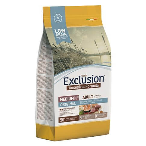 Exclusion Adult Original Medium Breed mit Huhn, Schwein & Lachs