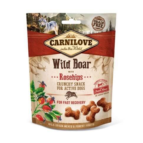Dog Crunchy Snack mit Wildschwein & Hagebutten