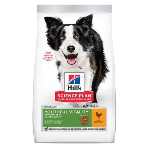 Hill's Science Plan Hund Mature Adult 7+ Youthful Vitality Medium