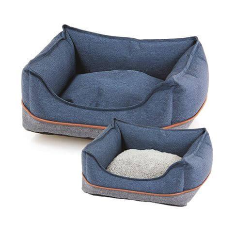 Hunde- & Katzenbett Vino blau