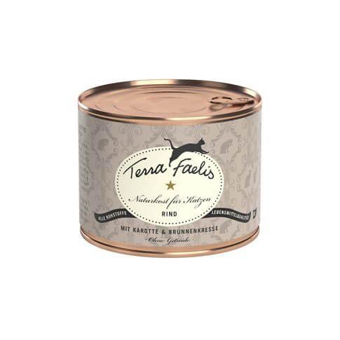Terra Faelis Getreidefrei mit Rind Karotten & Brunnenkresse
