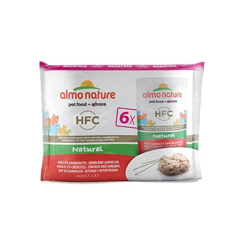 Almo Nature HFC Natural Multipack Huhn & Garnelen