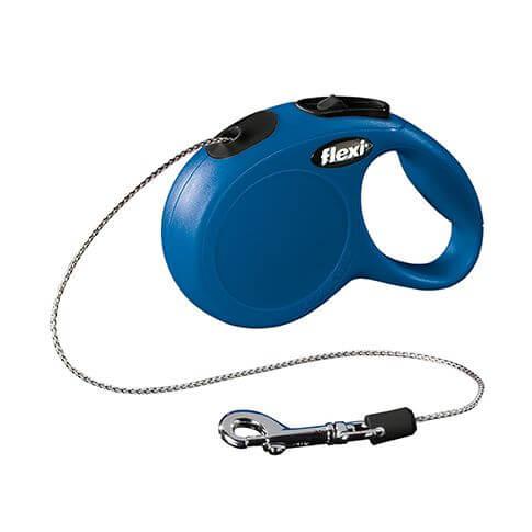 Roll-Leine Classic mit Seil blau